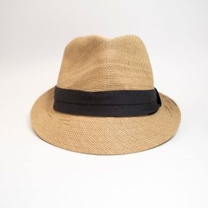 Milani Fedora Straw Hat with Black Band